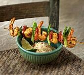 Seafood Kabob with Shrimp and Scallops