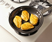 Chicken Breast in Skillet on Stovetop