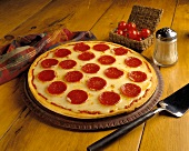 Pepperoni Pizza with Some Ingredients