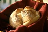 Sourdough Bread in Basket with Napkin