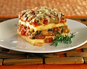 Polenta lasagne with vegetables