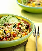 Mediterranean cereal salad with vegetables