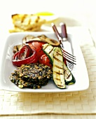 Wild Rice Pancakes with Grilled Vegetables