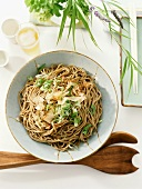 Soba Noodles with Dried Bonito and Scallions