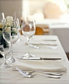 Restaurant Table Place Setting