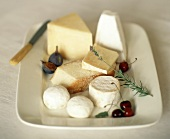 Cheese Still Life on Ironstone Plate