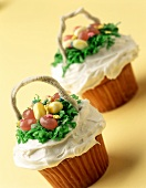 Cup-cake with Easter decoration