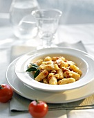 Gnocchi with tomato sauce and Parmesan