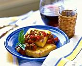 Polenta Squares with Tomato Relish