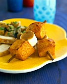 Sweet Potato and Marshmallow Skewers