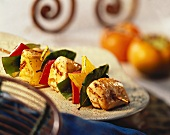 Chicken Kabob with Peppers and Star Fruit