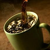 Pouring Coffee into a Mug
