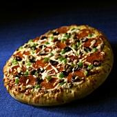 A Supreme Pizza; Blue Background