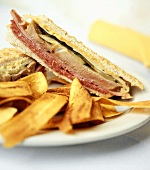 Cuban Sandwich with Plantain Chips