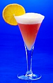 Ein Poinsettia (Cocktail mit Champagner &Cranberry-Saft)