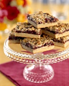 Raspberry Bars with Walnut Crumb Topping
