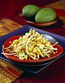 Raw vegetable salad with mango
