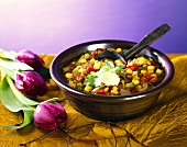 Chili with soya beans
