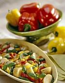 Potato and pepper salad