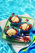 4th of July ice cream (vanilla ice cream, red & blue berries)