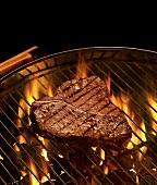 Porterhouse steak on the barbecue