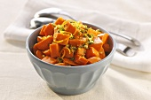Cubed Carrots with Garlic and Herbs
