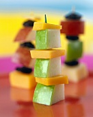An Apple and Cheese Skewer