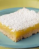 A piece of lemon cake