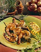 Grilled Shrimp Skewers with Lemon and Chives