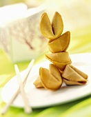A pile of fortune cookies