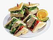 A Turkey Club Sandwich