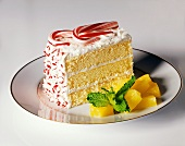 A Slice of Pineapple Peppermint Cake