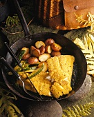 Pan Fried Catfish with Red Potatoes and Zucchini