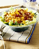 Chick-pea and pepper salad
