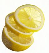 Half a lemon and two slices of lemon