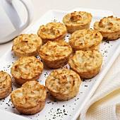 A Platter of Individual Potato Kugels