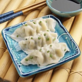 Three Leek, Cabbage & Pork Dumplings with Chives