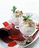 Almond Yogurt Parfait with Flower Petals