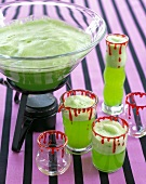 Frothy Green Halloween Punch