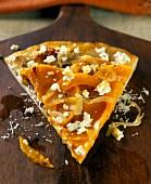 A Slice of Carmelized Squash Pizza
