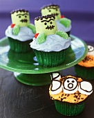 Halloween Cupcakes: Frankenstein and BOO