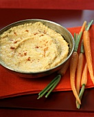 Hummus Dip with Young Carrots
