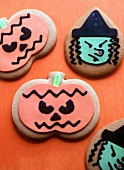 Pumpkin and Witch Halloween Cookies