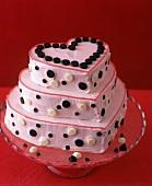 Three Tier Valentine Heart Cake