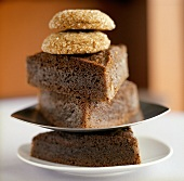 Gingerbread Slices Stack and Topped with Two Cookies