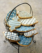 Christmas Cookies on a Wire Stand