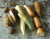 Asian vegetables (taro root, radish, lotus root, bamboo)