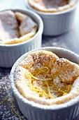 Coconut Lemon Souffle with Icing Sugar