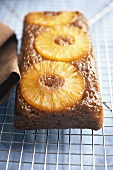 Pineapple Upside-Down Cake on Cake Rack