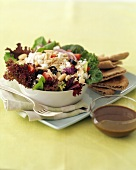 Tuscan Tuna Salad with Lettuce, White Beans and Olives